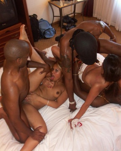 hot ebony gangbang